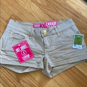 Tan jean shorts